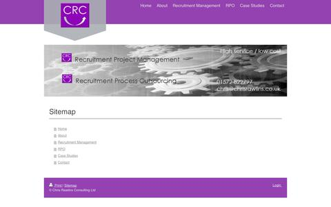 Screenshot of Site Map Page chrisrawlins.co.uk - Home - Chris Rawlins Consulting Ltd - captured Oct. 2, 2014
