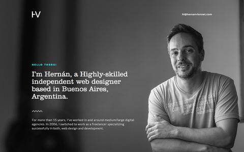 Screenshot of Home Page hernanvionnet.com - Hernan Vionnet - Interaction Designer - captured Nov. 7, 2016