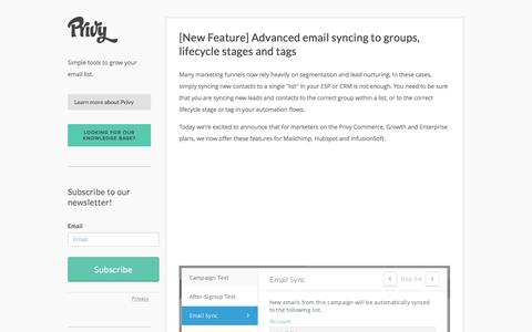 Privy | Build and Grow your Email List | Email Signup Widgets and Landing Pages