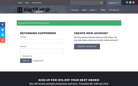 Screenshot of Login Page plastikwrap.com - Plastik Wrap - captured May 19, 2017