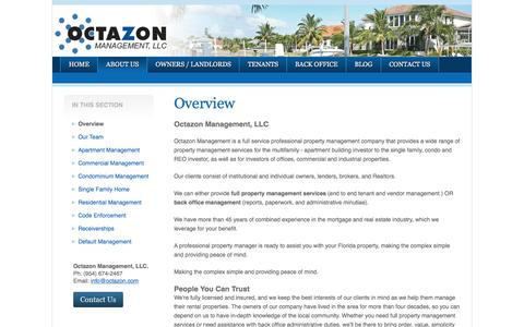 Screenshot of About Page octazon.com - About Us   Octazon Management, LLC - captured Nov. 28, 2016