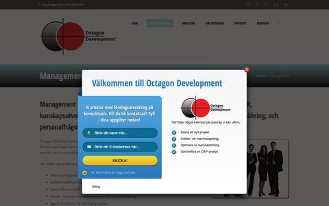 Screenshot of Team Page octagondevelopment.se - Management - captured Feb. 13, 2016