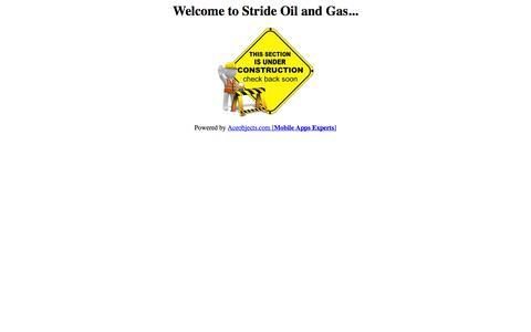 Screenshot of Home Page stridenetworks.co.uk captured Oct. 7, 2014