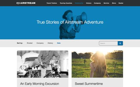 Screenshot of Blog airstream.com - Blog - Airstream - captured July 12, 2016