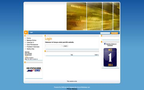 Screenshot of Login Page freetech-spi.com - Title website anda - Login - captured Oct. 1, 2014