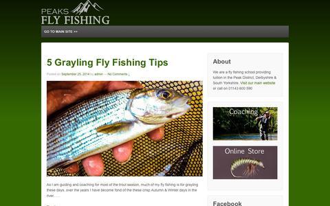 Screenshot of Press Page peaksflyfishing.com - Peaks Fly Fishing Blog | Fly fishing news, videos & more! - captured Sept. 26, 2014