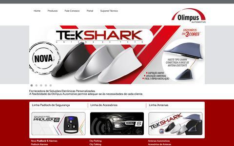 Screenshot of Home Page olimpus.com.br - Olimpus Automotive - Soluções Eletrônicas Personalizadas - captured July 4, 2019