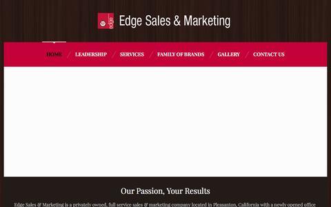 Screenshot of Home Page edgesales.com - Edge Sales & Marketing - captured Oct. 25, 2016