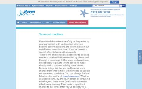 Screenshot of Terms Page haven.com - Haven - Terms and Conditions - captured Oct. 30, 2016