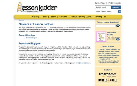 Screenshot of Jobs Page lessonladder.com - Careers at Lesson Ladder - captured Sept. 29, 2014