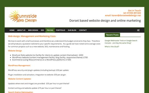 Screenshot of Pricing Page dorsetwebdesign.net - Pricing | Dorset Web Design - captured Oct. 18, 2018