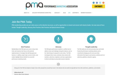 Screenshot of Signup Page thepma.org - Join the PMA Today | The PMA - captured Oct. 31, 2014