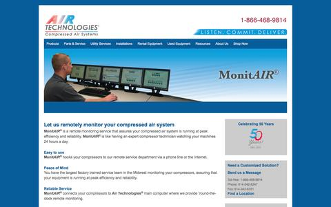MonitAIR - Air Compressors, Air Compressor Systems from Air Technologies | Columbus, Cleveland, Cincinnati, Canton, Toledo, Indianapolis, Fort Wayne, Detroit, Grand Rapids, Erie, Pittsburgh, Nitro, Louisville, Lexington