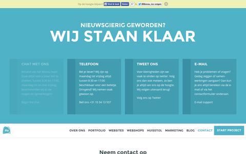 Screenshot of Contact Page monsu.nl - Contact opnemen? wij staan u graag te woord - Monsu - captured Oct. 7, 2014