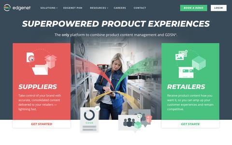 Screenshot of Home Page edgenet.com - Home | edgenet - captured Sept. 20, 2018