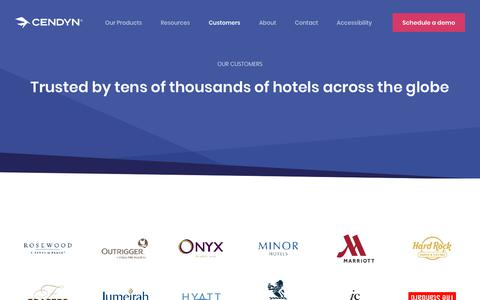 Screenshot of Case Studies Page cendyn.com - Cendyn Hospitality Cloud | Our clients - captured Jan. 6, 2020