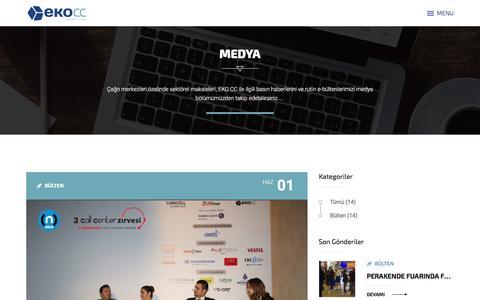 Screenshot of Press Page ekocontactcenter.com - EKO Contact Center - captured Dec. 6, 2015