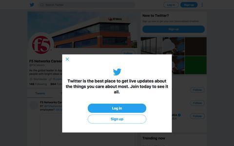 Tweets by F5 Networks Careers (@F5Careers) – Twitter