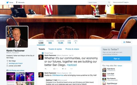 Kevin Faulconer (@Kevin_Faulconer) | Twitter