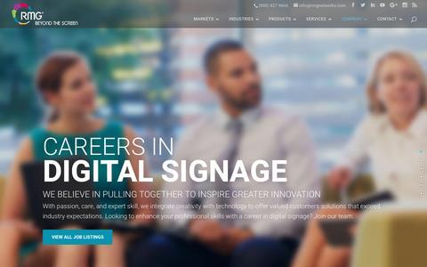 Screenshot of Jobs Page rmgnetworks.com - Careers | RMG Networks - captured Feb. 14, 2017