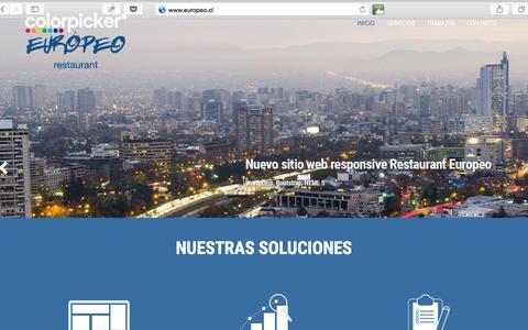 Screenshot of Home Page colorpicker.cl - Agencia Colorpicker | Especialistas Digitales - captured Sept. 10, 2015