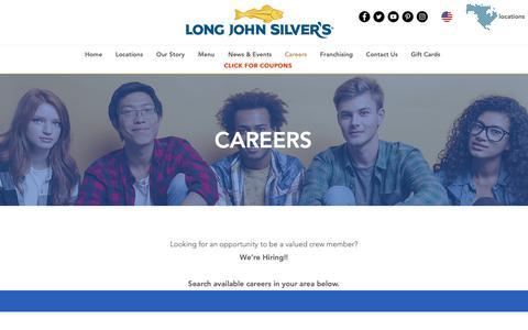 Screenshot of Jobs Page ljsilvers.com - ljsilvers | Careers - captured Feb. 4, 2019