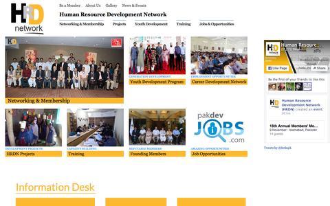 Screenshot of Home Page hrdn.net - HRDN - Human Resource Development Network - captured Oct. 16, 2015