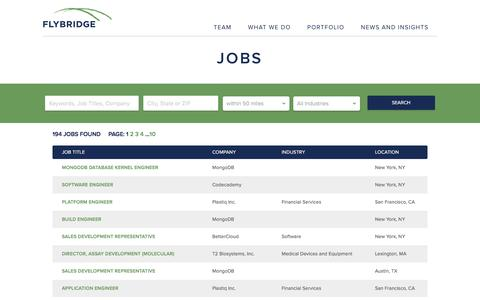 Screenshot of Jobs Page flybridge.com - Jobs - Flybridge - captured Jan. 24, 2016