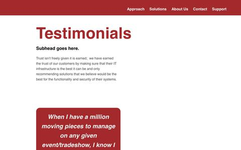 Screenshot of Testimonials Page promission.net - Testimonials - captured Sept. 29, 2018