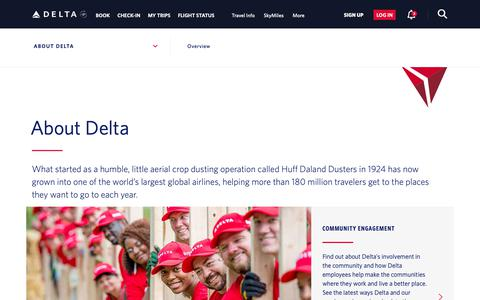 Screenshot of About Page delta.com - About Delta : Delta Air Lines - captured Nov. 16, 2018