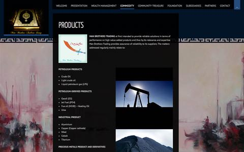 Screenshot of Products Page man-brothers-arabian-group.com - Products | Man Brothers Arabian Group - captured Oct. 3, 2014