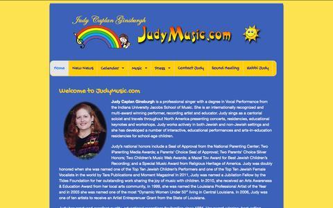 Screenshot of Home Page judymusic.com - JudyMusic.com - captured Oct. 6, 2014