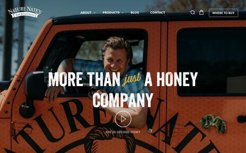 Screenshot of About Page naturenates.com - Our Story - Nature Nate's Honey Company - captured Nov. 5, 2017