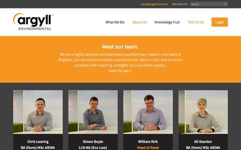 Screenshot of Team Page argyllenvironmental.co.uk - The Argyll Enviromental Team - captured July 13, 2016