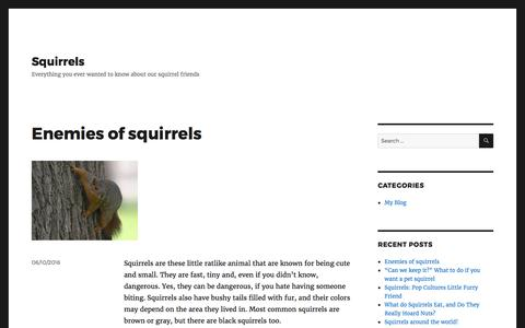 Screenshot of Home Page squirrel-design.net - Squirrels – Everything you ever wanted to know about our squirrel friends - captured Feb. 21, 2017