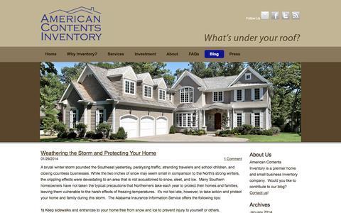 Screenshot of Blog americancontents.com - American Contents Inventory - Blog - captured Jan. 10, 2016