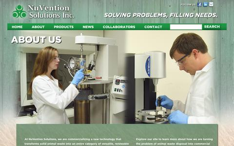 Screenshot of About Page nuventionsolutions.com - About Us   Nuvention - captured Oct. 7, 2014