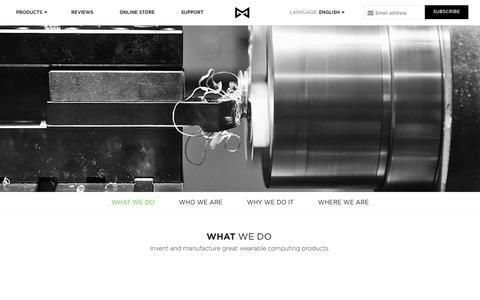 Screenshot of About Page misfit.com - Misfit - captured Oct. 26, 2014