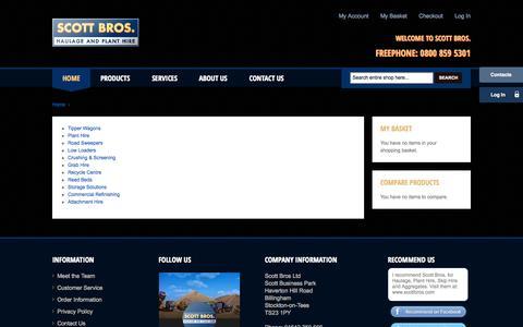 Screenshot of Services Page scottbros.com - Services - Scott Bros - captured Sept. 30, 2014