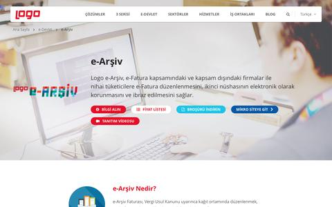 e-Arşiv | e-Devlet ve e-Dönüşüm Çözümleri | Logo Yazılım
