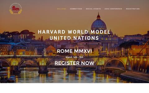 Screenshot of About Page worldmun.org - Harvard WorldMUN - captured Sept. 29, 2015