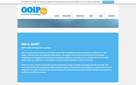 Screenshot of About Page ooip.nl - Over OOiP | OOiP | Creative Technology - captured Oct. 26, 2014