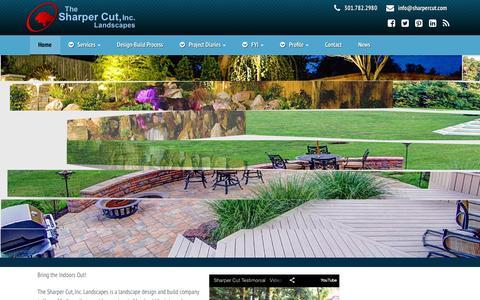 Screenshot of Home Page sharpercut.com - The Sharpercut, Inc. Landscaping | Maryland's Premier Landscaping Company - captured Feb. 16, 2016
