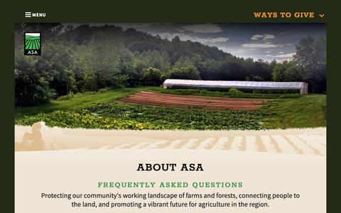 Screenshot of FAQ Page agstewardship.org - About - Agricultural Stewardship Association - Greenwich, NY - captured Oct. 3, 2018