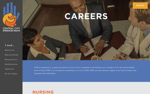 Screenshot of Jobs Page centralcityhealth.com - Careers – Central City Integrated Health : Central City Integrated Health - captured July 7, 2018
