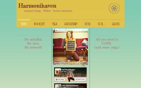Screenshot of Home Page harmonihaven.no - Harmonihaven - captured July 11, 2016