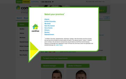 Screenshot of Contact Page comfree.com - Contact Us | ComFree - captured Sept. 19, 2014