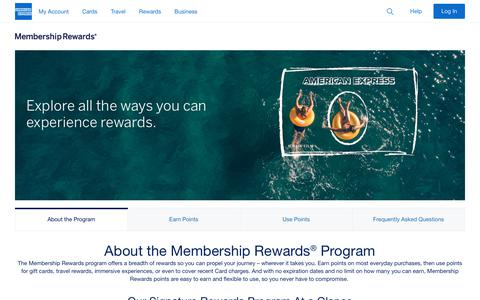 Screenshot of About Page americanexpress.com - About The Program - captured Feb. 1, 2019