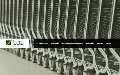 Screenshot of Home Page facta.net.br - FACTA - captured Oct. 6, 2014
