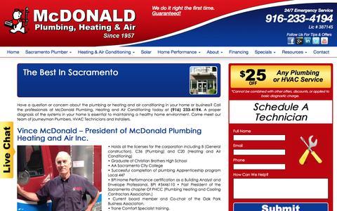 Screenshot of About Page mcdonaldphac.com - Meet the Team   McDonald - captured Aug. 23, 2016